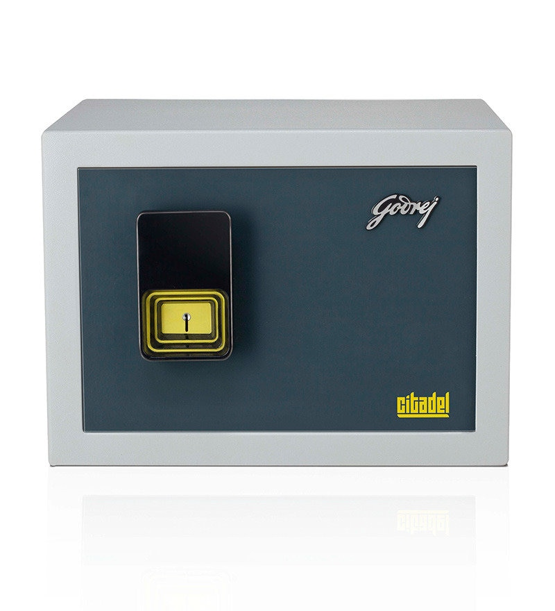 Godrej Citadel Mechanical Safe  A perfect combination of strength and class, Citadel is a burglar resistant safe that is aesthetically pleasing too. Opens only with a Godrej high precision dual control lock. A dignified and lasting look and an elegant handle that complements any décor.   Specifications  Dimensions (H x W x D)	330 mm x 450 mm x 385 mm  Body Thickness (Wall)	3 mm  Body Thickness (Door)	6 mm  Weight 40 kg  Volume 28 litres   Visit our store to Avail 20% Discounts on Godrej Safes. Click to know more. http://mattressdealers.foamplaza.com/productsearch/godrej