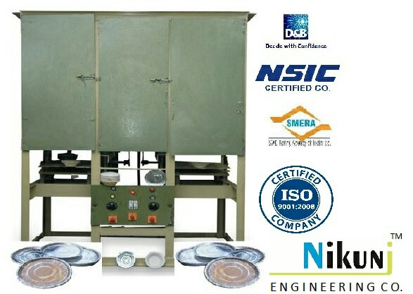 Fully automatic Dona Making Machine and Paper plate making machine manufacturer in Ahmedabad. www.nikunjproducts.com