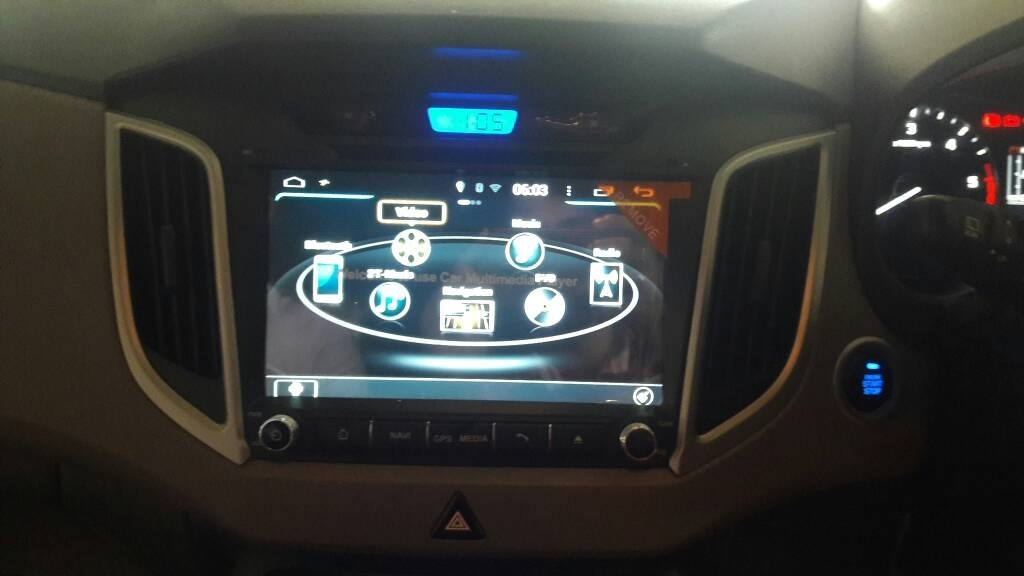 oem type headunit for hyundai creta with gps and reverse camera @motominds..