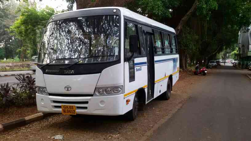 24 seater AC coach in Goa. Available for Airport/Railway transfers. Local Goan sightseeing.