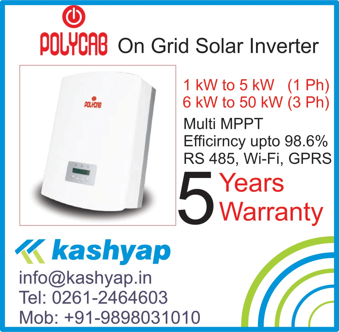 Polycab three phase Solar Inverters are suitable for difference PV projects with three phase input, which are also perfect models for household, industrial and commercial, as well as small & medium size distributed PV system installations.  IP65 designed make it visually pleasing for domestic environment; Over 98% Max. efficiency and featuring with unique 4MPPT design and precise MPPT algorithm, and numerous monitoring option via RS485, WIFI and GPRS interface. All these features has ensure stable and reliable operation of Polycab three phase Solars Invertes.