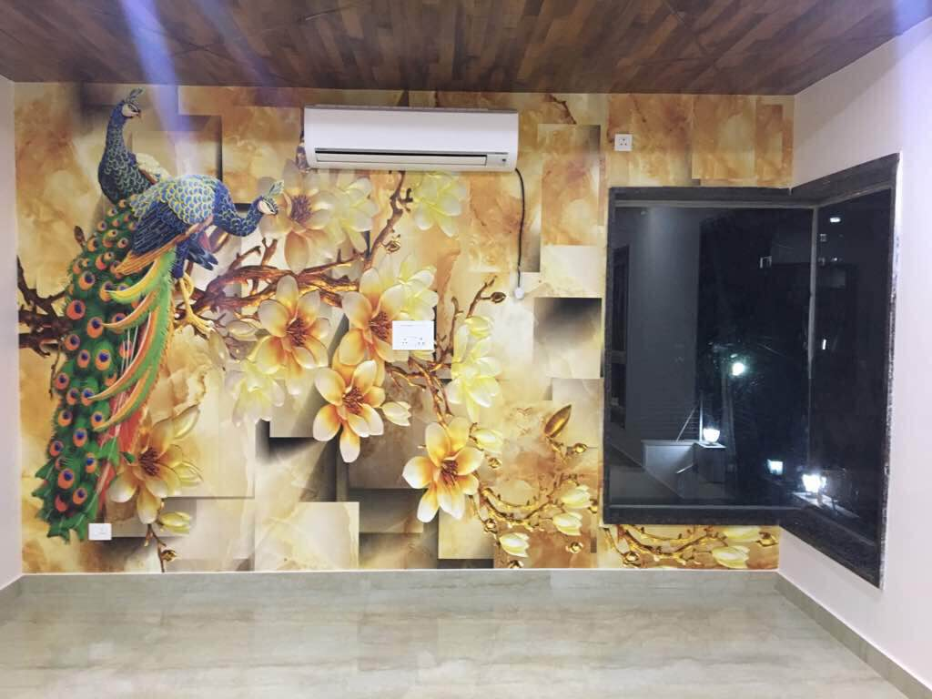 Customised 3D Wallpaper Installed At A Client Location In Hyderabad Custom Wall Decor From THINKWALLS