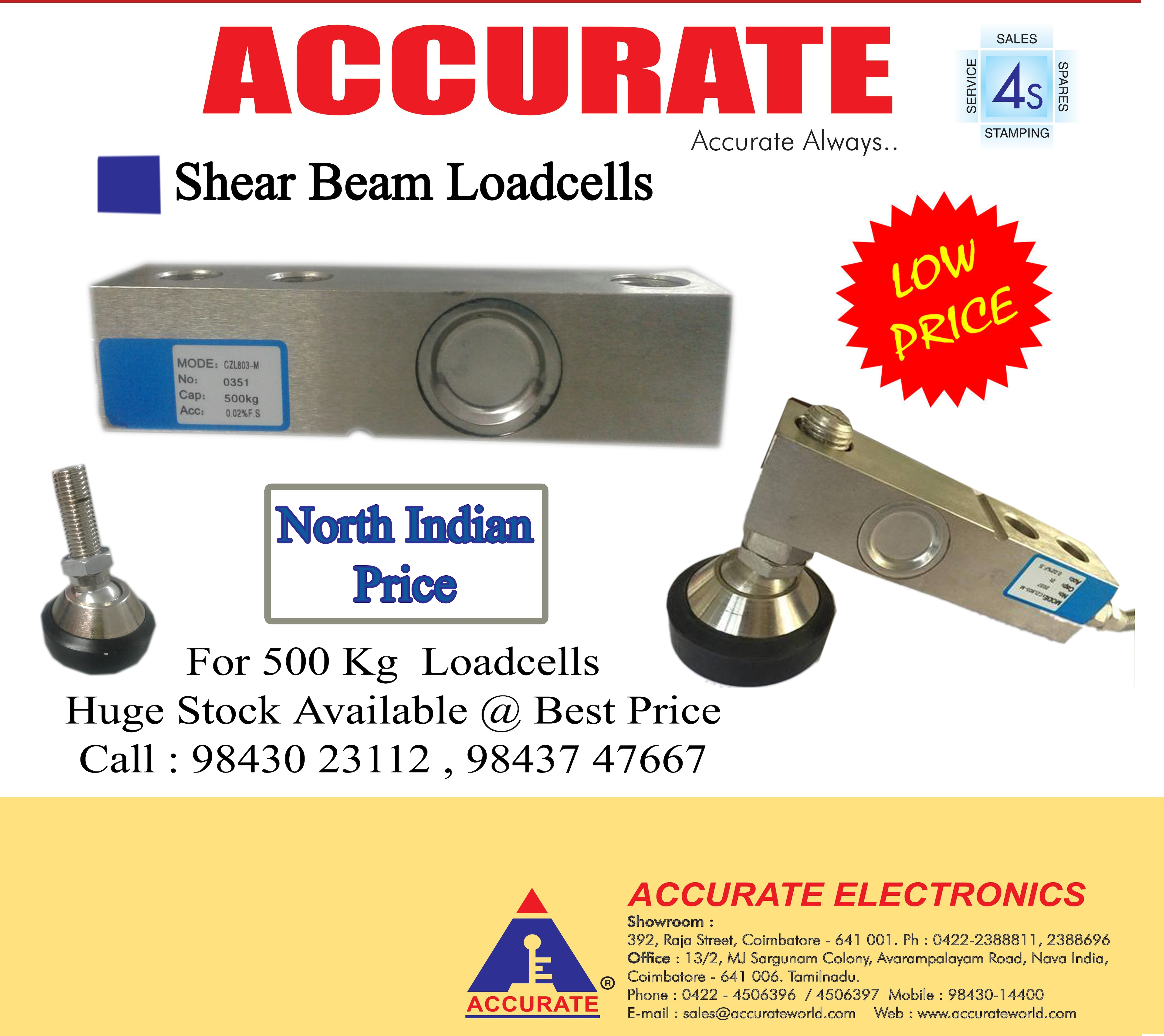ACCURATE – Load Cells #Loadcell  #500KgLoadcell #ShearBeamLoadcells  #LowpriceLoadcells #Accurate #AccurateScales  #Accurateworld  Click here to know more : https://goo.gl/MGAeuK   Contact: 98430 23112 , 9843747667