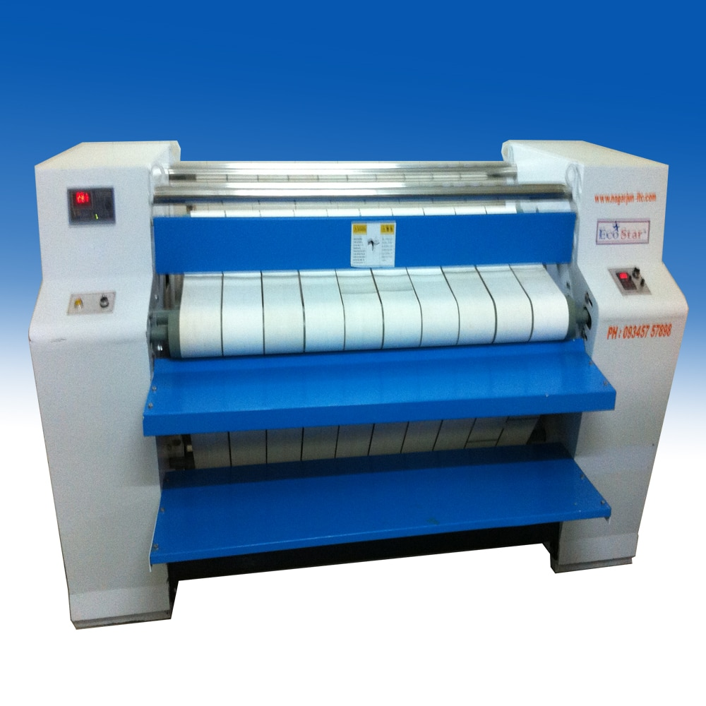 Flatwork Ironer - Suppliers, Traders in Kerala Manufacturer of Flatwork Ironing Machine - Industrial Flatwork Ironer Machine, Roller Heated Flatwork Ironer, Roller Heated Premium Flat Work Ironer Machine type: Automatic, Brand: Ecostar For more Details contact: www.nagarjun-itc.com