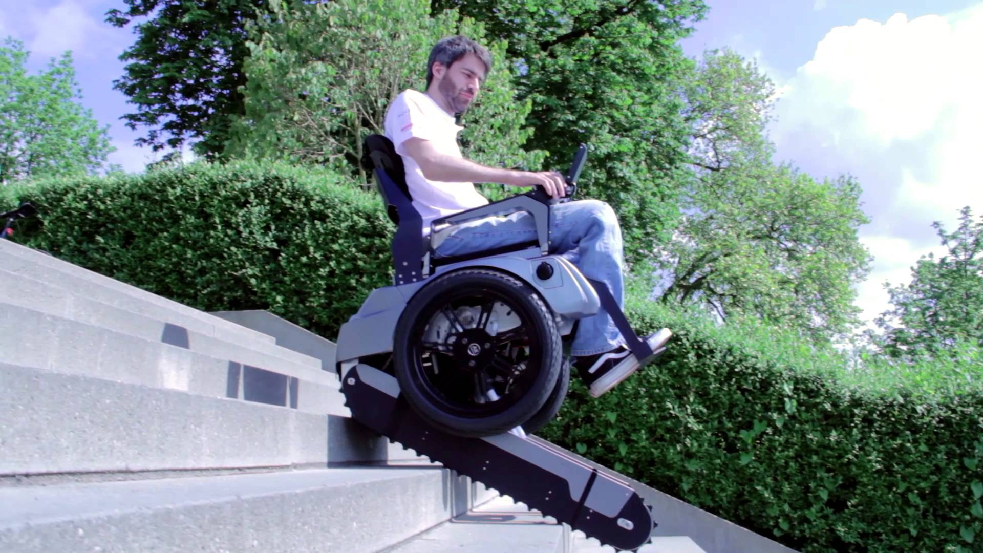 Stair Climbing Wheelchair available ! Now its easy to be mobile and no obstacle anymore ! For more details Call 8087450505.