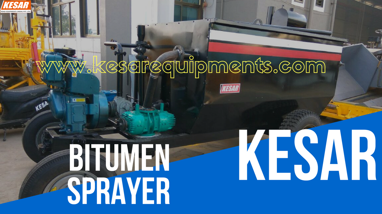 Bitumen Emulsion Sprayer With High Compressor For Road Dust Cleaning Manufacturer And Supplier In AndhraPradesh, Tamilnadu, Etc.  Kesar Road Equipments Manufacturer Of Asphalt Road Construction Machinery In Mehsana, Gujarat, India.  www.kesarequipments.com