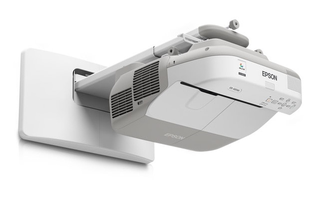 Ultra Short throw projectors from Epson for Schools, Colleges.  Epson EB 675wi is a HD ready Interactive projector.  3200 lumens color and white brightness,  1280 x 800 pixels WXGA resolutions,  16000:1 contrast ratio,  16W built in speaker,  Wifi enabled,  Ultra Short Throw!!!  Call Viewtech Hyderabad, the Authorized Epson Projector Dealer for more details. Ready stocks available!!!