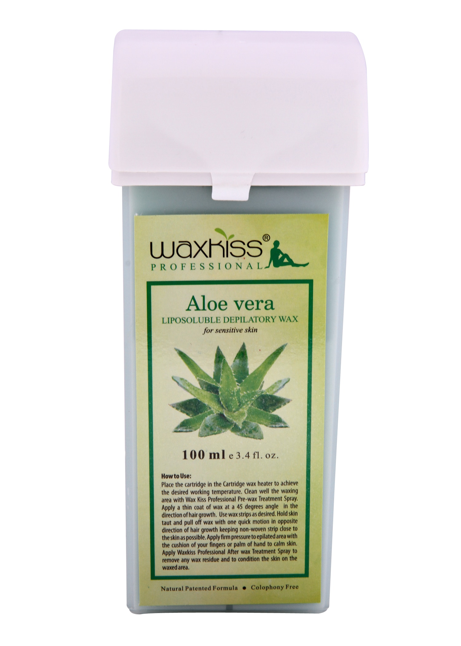 Liposoluble Depilatory Wax – Aloe Vera Cartridge wax 100 ml For Sensitive skin with its time tested properties heals , soothes and hydrates the skin.