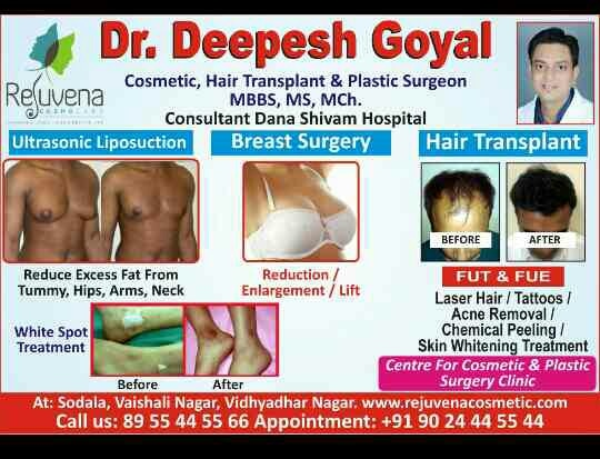Dear Doctor, 1st July is National Doctors Day , On this occasion Rejuvena Cosmo Care offers Exclusive Benefits for Doctors on Doctors Day  Online Booking i.e.50% fee waiver . Total 3000 Grafts/12000 hair @ Rs 40000/- . Visit www.rejuvenacosmetic.com  Last 2 days remaining.  Call @ 09024445544(10am to 8pm). Rejuvena Cosmo Care