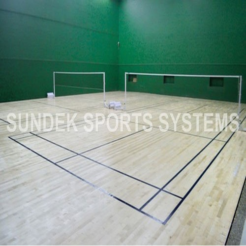 Badminton Court Construction  We Sundek Sports Systems are manufacturers of Badminton Court Construction in Mumbai.  As well as in India. With sheer hard work and determination, we have positioned ourselves as the most preferred name in the market for providing Badminton Court Construction services to our revered clients. With the wide knowledge gained by us, we use the best of techniques and machines, under the guidance of our adept professionals to provide the prompt, reliable and flexible services at clients end. Further, our quality controllers check these products on stringent parameters for ensuring their compliance with the defined industry norms.  Features:   Easy maintenance Rough and tough to use Durable  Products:  Sundek Air-Cush Wooden Flooring Outdoor Synthetic Surfaces PVC Vinyl Flooring PP Tiles Rubber Flooring