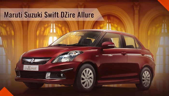 Maruti Suzuki Swift DZire Allure limited edition launched Source :- http://zeenews.india.com/automobile/maruti-suzuki-swift-dzire-allure-limited-edition-launched_1970346.html