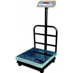 this image shows the 100kg platform scale . this is mainly used in vegetable shop.