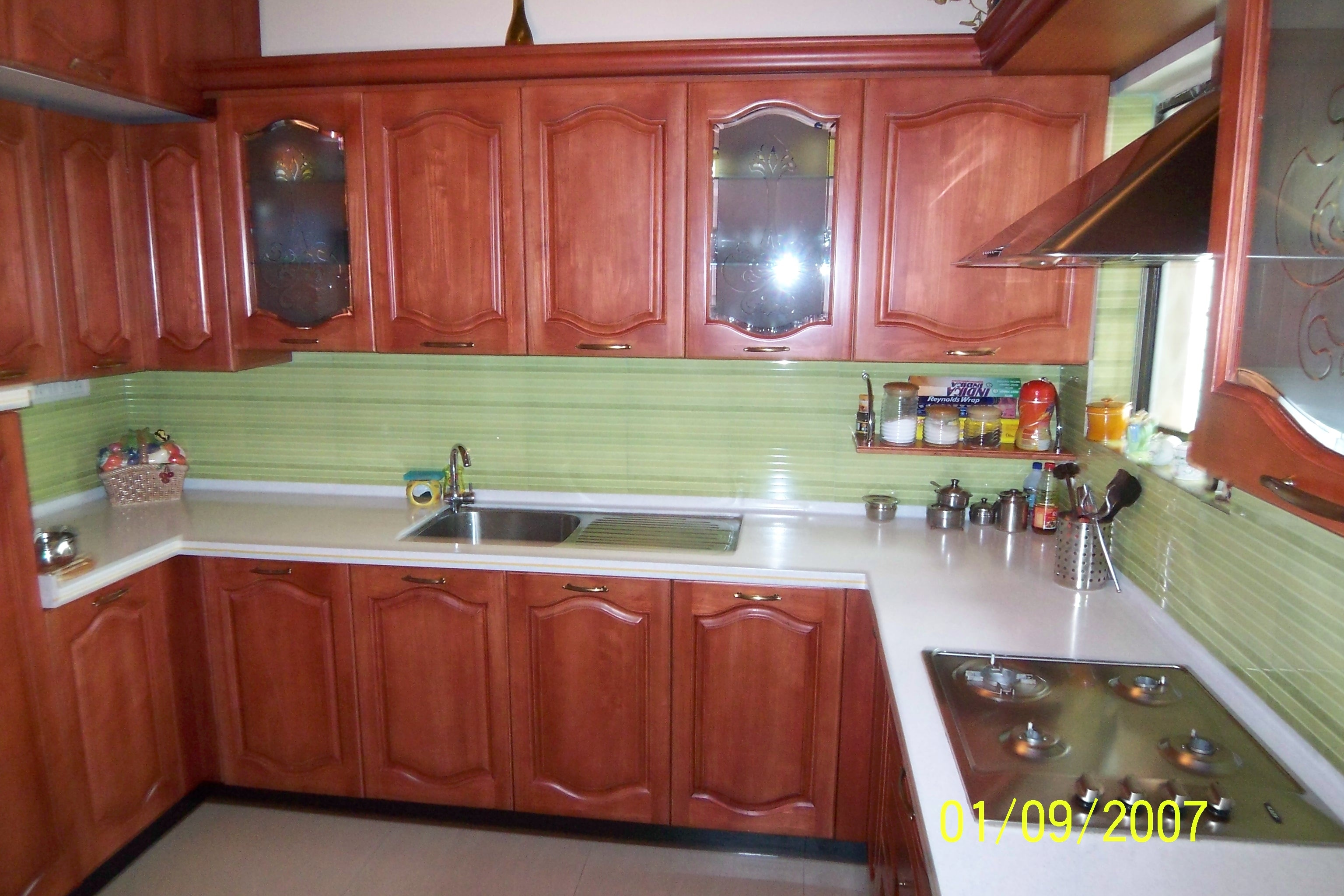 Solid Wood Kitchen starting from price range of Rs. 1, 90, 000