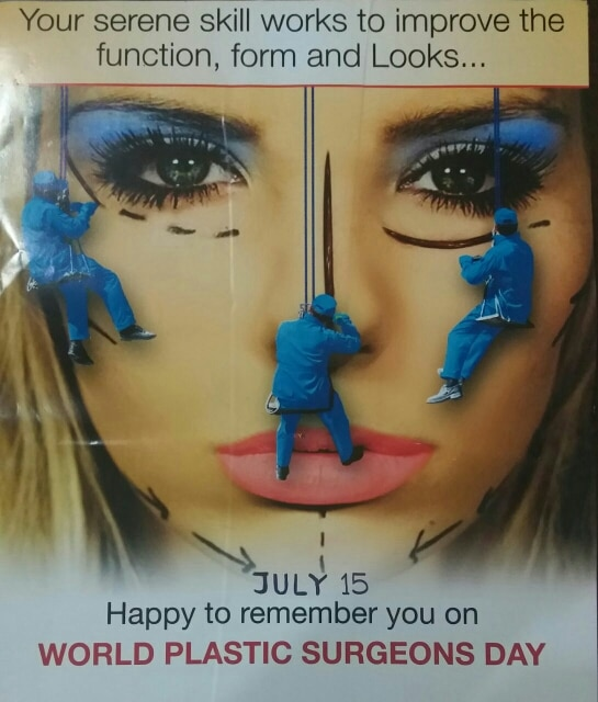Revive, reconstruct and rejuvenate. On Plastic surgery day at Rejuvena- let's make the- world more beautiful. Best wishes.      Dr.Deepesh Goyal www.rejuvenacosmetic.com