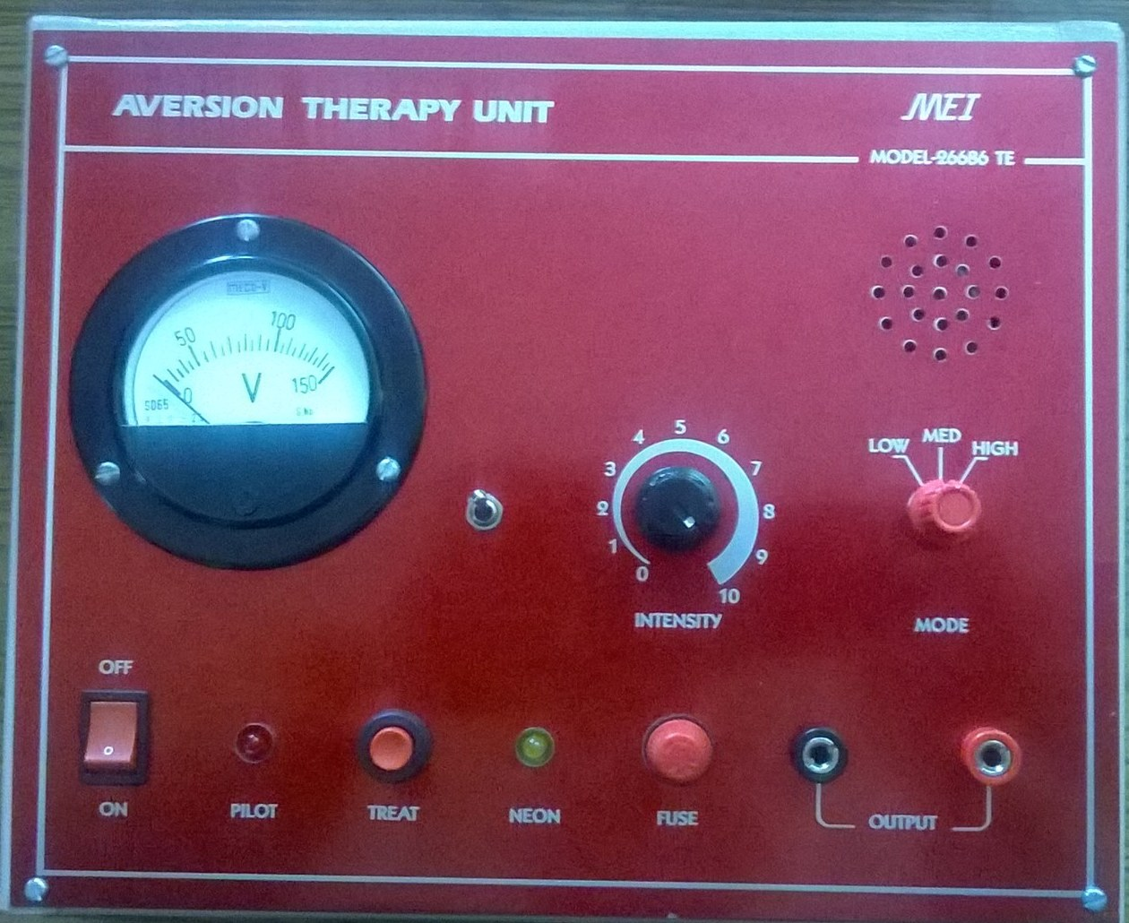 Aversion Therapy Equipment is an Instrument used to treat the addicts of Alcohol, Smoking, Drugs, Sexual deviations etc.