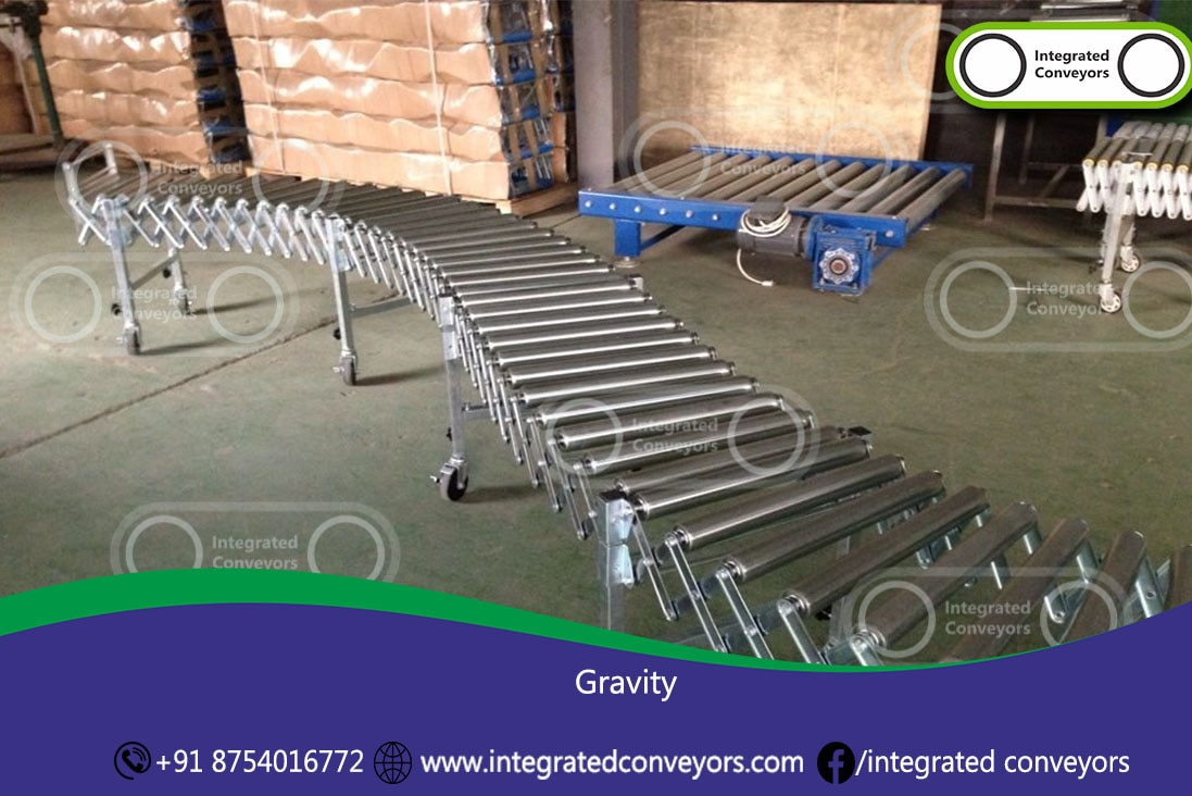 Owing to our wide industrial expertise, we are capable of developing finest grade Flexible Roller Conveyors. Developed to render the advanced material handling solutions, these conveyors are highly versatile in its use and can be utilized for conveying and loading unloading at complicated environments of airports and warehouses. Designed with utmost flexibility and remarkable expansion features the offered conveyors minimize the floor space requirements. Fabricated from best in class materials the offered conveyors can be customized in any length at a competitive price.  Bolted steel construction for lasting strength Great for packaging, assembly and low to medium volume shipping and receiving Zinc plated legs. Welded double cross members give strong support Galvanized steel rollers have sealed ball bearings and spring loaded axles. Durable frame. Adjustable heights.
