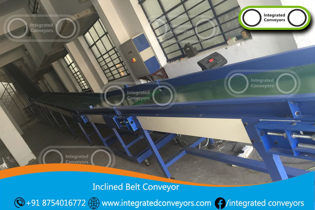 We are reckoned as major entity actively engaged in developing widely demanded Inclined Conveyors. Developed from robust material, the offered conveyors are chemical resistant and suitable for conveying oily parts and scrap material into hoppers. The frame is designed with welded side skirts to prevent overflowing of material. Further, we are developing these conveyors in customized width and length specifications, which can be ordered from us at a nominal price.  Features:   Withstand harsh environment Smooth operation Impact resistant