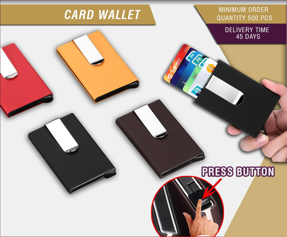 Fed Up Of Organising your credit  and ATM cards !!  Giftt Hub brings to you the easy, unique and stylish way to carry your cards. The new and latest credit card wallet is a convenient way of carrying your cards. It has a push button by which the cards come out and you can choose the card you want. The money clip attached to it make sure even your money is in one place, so all you need to do is carr this sleek and designer product when you step out. No need of the wallet.  So throw away your wallet and carry this latest and stylish Credit card wallet with money holder.  For more unique and stylist products you can visit our website - http://www.giftthub.com