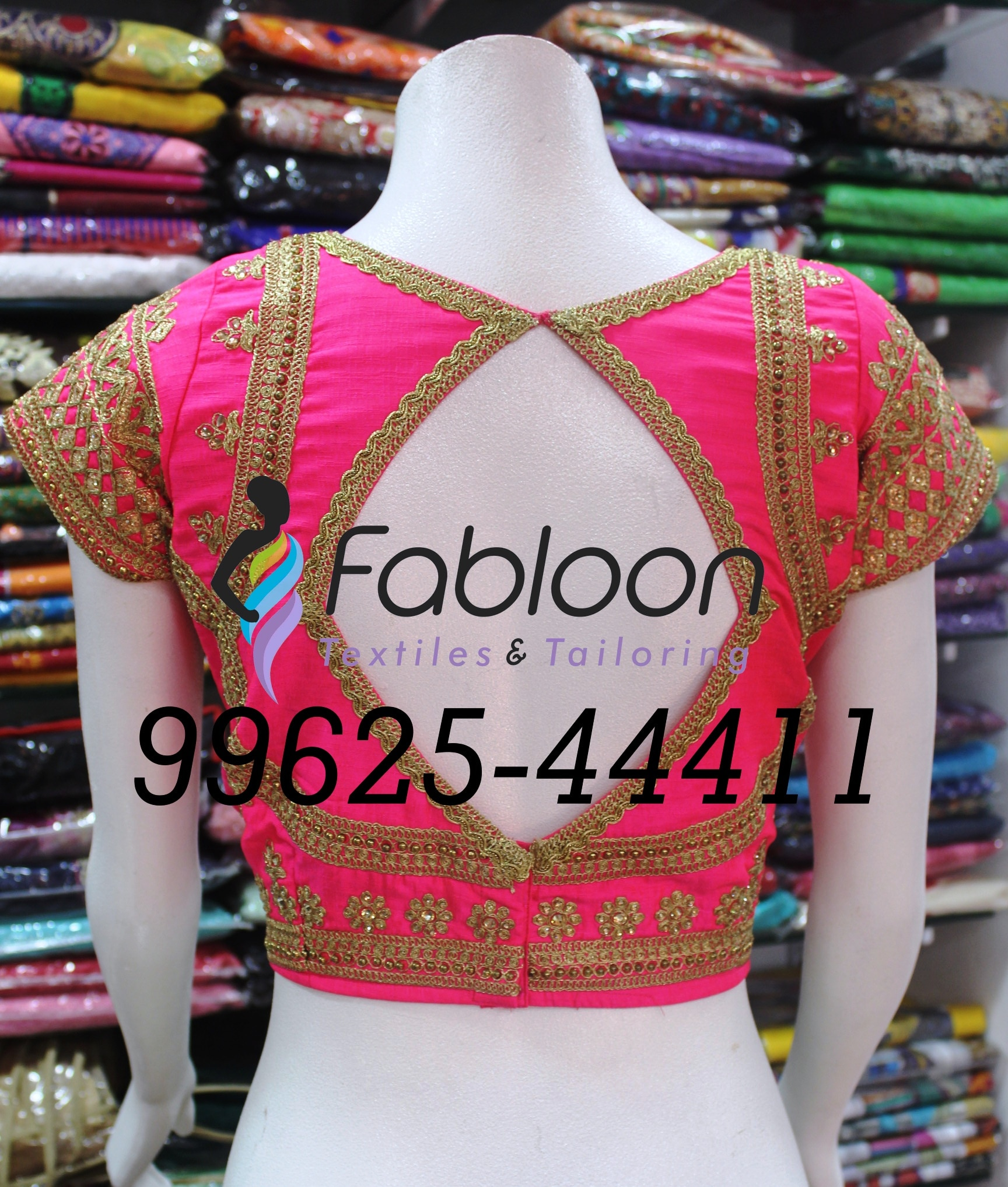 Wedding Blouse Tailors In Chennai.  Wedding Designer Blouse Stitching At Fabloon Textile & Tailoring, Mob: +91 9962544411, 044 48644411.  Indian bride looks stunning with very beautiful designer blouse made by our Showroom Tailors. If you don't find the unique and different design of blouse by your own, there are ways through which you can create beautiful blouse without breaking your brain. Our Showroom of Fabloon dealing with fashion design will make you to get the amazing designs of blouse design that matches with your saree that you are going to wear during the Celebration. We help you find some of the beautiful blouse designs that will make you look stunning on the day of wedding celebration.