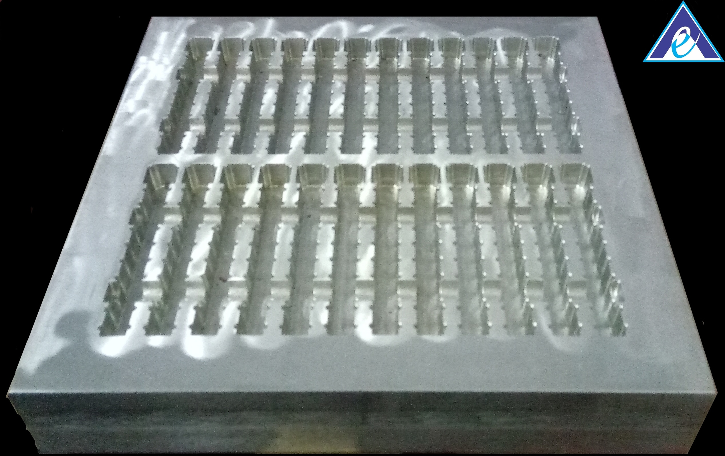 PRODUCT : SHAFT TRAY MOLD/MOULD (Industrial Transport Tray Mold/Mould) FOR : Industrial Tool Transport  FORM : Mold/Mould MATERIAL : Aluminium CAVITY : 24 (12*2)  PROCESS : Vacuum Forming  * Vacuum Forming is the simplified version of Thermoforming. * In this type of process, a sheet of plastic is heated to a forming temperature, stretched onto a single surface mold/mould, and forced against the mold/mould by a vacuum. * Forms plastic into a permanent object. * Then trimmed to create a usable product. * Ability to make 1000 parts per hour (based on the efficiency of the machine and mold/mould size).  * This SHAFT TRAY MOLD/MOULD (Industrial Transport Tray Mold/Mould) is designed and developed to make the packaging for Industrial Tool Transport. * There are nothing but the pack made of regular plastic of light weight which can carry heavy loads for industrial use. * This type is developed to carry heavy loads of multi-numbered in a single rack.  * Ability Engineering Private Limited, works and easyfies our customers job by manufacturing above their satisfaction point. * Our moto is to manufacture with high precision level in the given mean time at affordable cost.  CONTACT : Santhosh K Chandrasekaran [ +919940206164 ] Nithin [ +919790819084 ]  PROFILE : Vacuum Forming Mold/Mould Manufacturer and Thermoforming Mold/Mould Manufacturer.  PLACE : Chennai, Tamil Nadu, India.