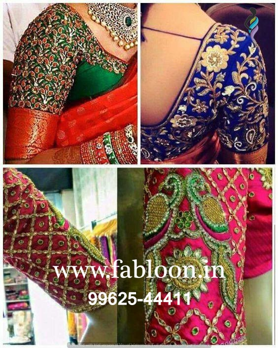 Wedding Blouse Tailors In Chennai.  Maggam Work On Wedding Blouse At Fabloon Blouse Designer In Vadapalani, Mob: +91 9962544411, 044 48644411.  Beautiful WEDDING BLOUSE WITH MAGGAM WORK enhances the front and the back look of the blouse.  MAGGAM WORK ON DESIGNER WEDDING BLOUSE is available at our showroom Fabloon. Glam up this wedding season with a MAGGAM WORK WEDDING BLOUSE to look your very best.  Available at a reasonable price near Vadapalani, designer wedding blouse is trending this time of the year. Enrich your wedding look with dazzling maggam work and thrive at the WEDDING CEREMONY or WEDDING RECEPTION.