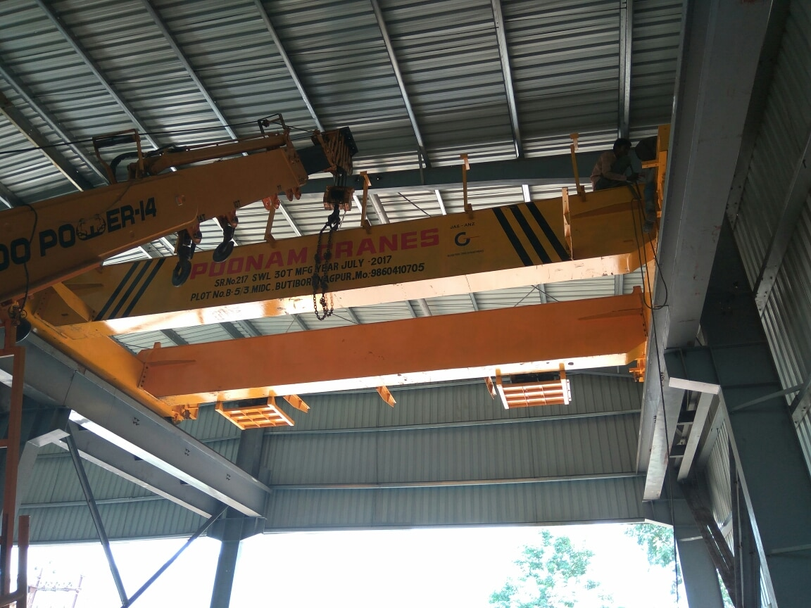 Errection of 30 ton Double Girder Eot cranes