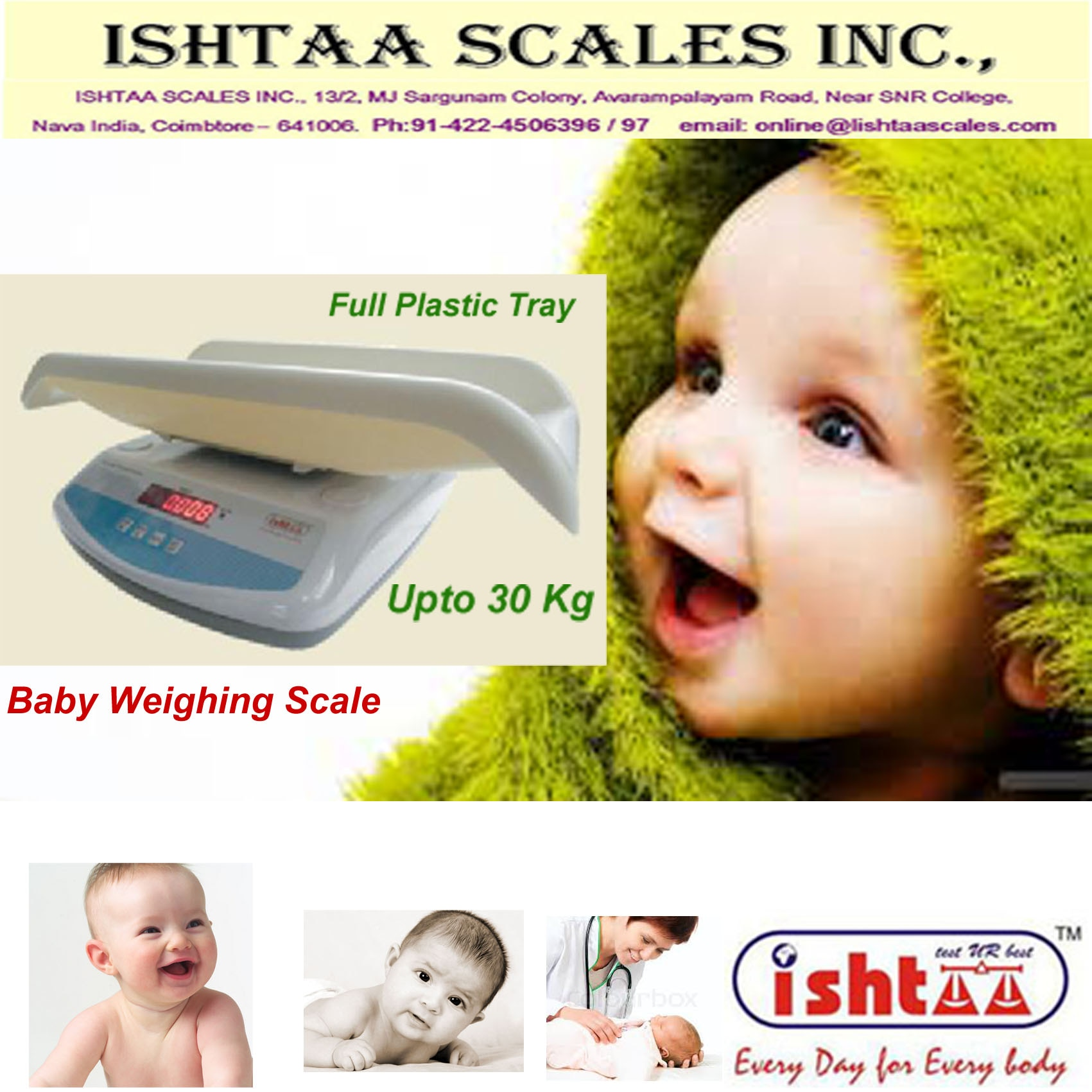 ISHTAA – Baby Weighing Scale 	 #BabyWeighing #HospitalWeighing #PediatricWeighing #NewbornWeighing #InfantWeighing #Babyweight #Kidsweighing #Clinicweighing #BabyPatient weighing #Childweighing #IshtaaWeighing #Scales #AccurateWeighing #AccurateScale #Weighing  Check in http : https://goo.gl/vwP7YR  Call : 098430 16028  Web: www.ishtaascales.com