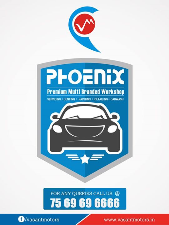 Premier Solution Provider to every problem of your car. visit vasant motors #PHOENIX #Multi #Brand #Bodyshop. #Servicing #Denting #Painting #Detailing #Carwash. For any queries call @7569696666. visit us @ www.vasantmotors.in