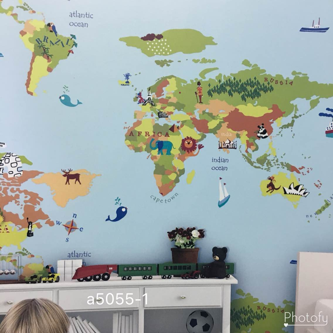 Best Imported Wallpaper Supplier In Delhi A World Map Imported - World map boys room