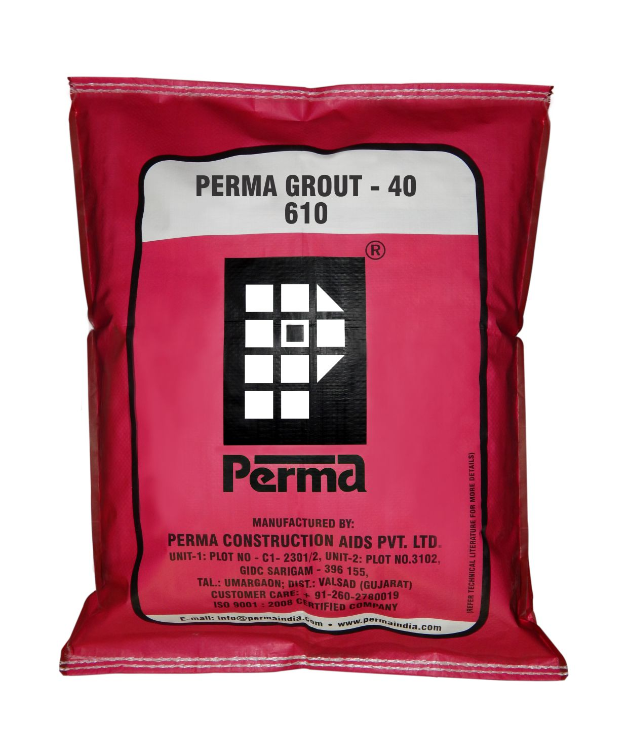 Free Flowing Grout Supplier  We manufacture Free Flowing Non Shrink Grout in the brand name of PERMA in India.  DESCRIPTION Perma Grout – 40 is a free flowing shrinkage compensating grout mix supplied in grey powder form which needs only on site addition of water to form a ready to use grouting slurry.  PRIMARY USES Perma Grout-40 is used for :  Machine foundations Column/Stanchion foundations Grouting structural cut outs and recesses in sanitary fittings like floor taps, annular spaces of pipe passes through walls etc. in residential buildings. Grouting crane rails, anchor bolts, dowel bars etc. ADVANTAGES  Perma Grout – 40 acheives the strength of parent concrete within 72 hours i.e. 200 kgs/cm2. Perma Grout – 40 is shrinkage compensating hence least affected by shrinkage Perma Grout – 40 is free flowing and self leveling hence does not require any vibrations. Perma Grout – 40 is free from any added Chlorides, Sulphates, Nitrates and any ferrous materials. Perma Grout – 40 achieves a final strength of 400 kg/cm2 after 7 days