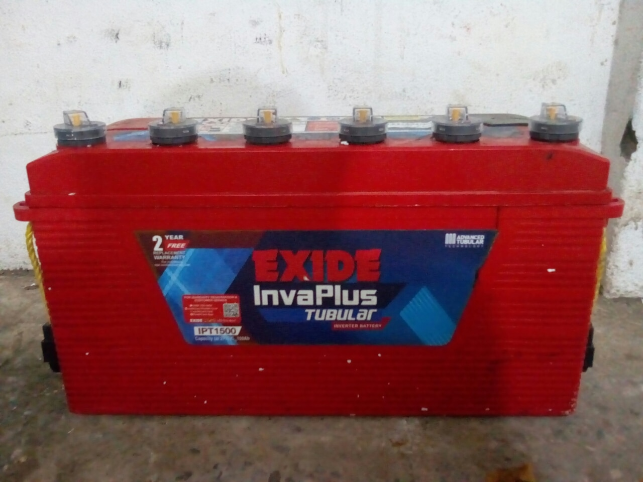 Exide invaplus tubular battery (12 volt 150 ah) 24 months free replacement warranty for inverter application