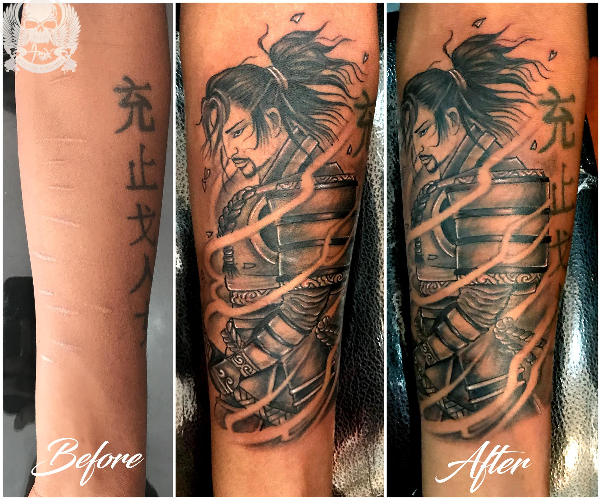 Cover up tattoo of S