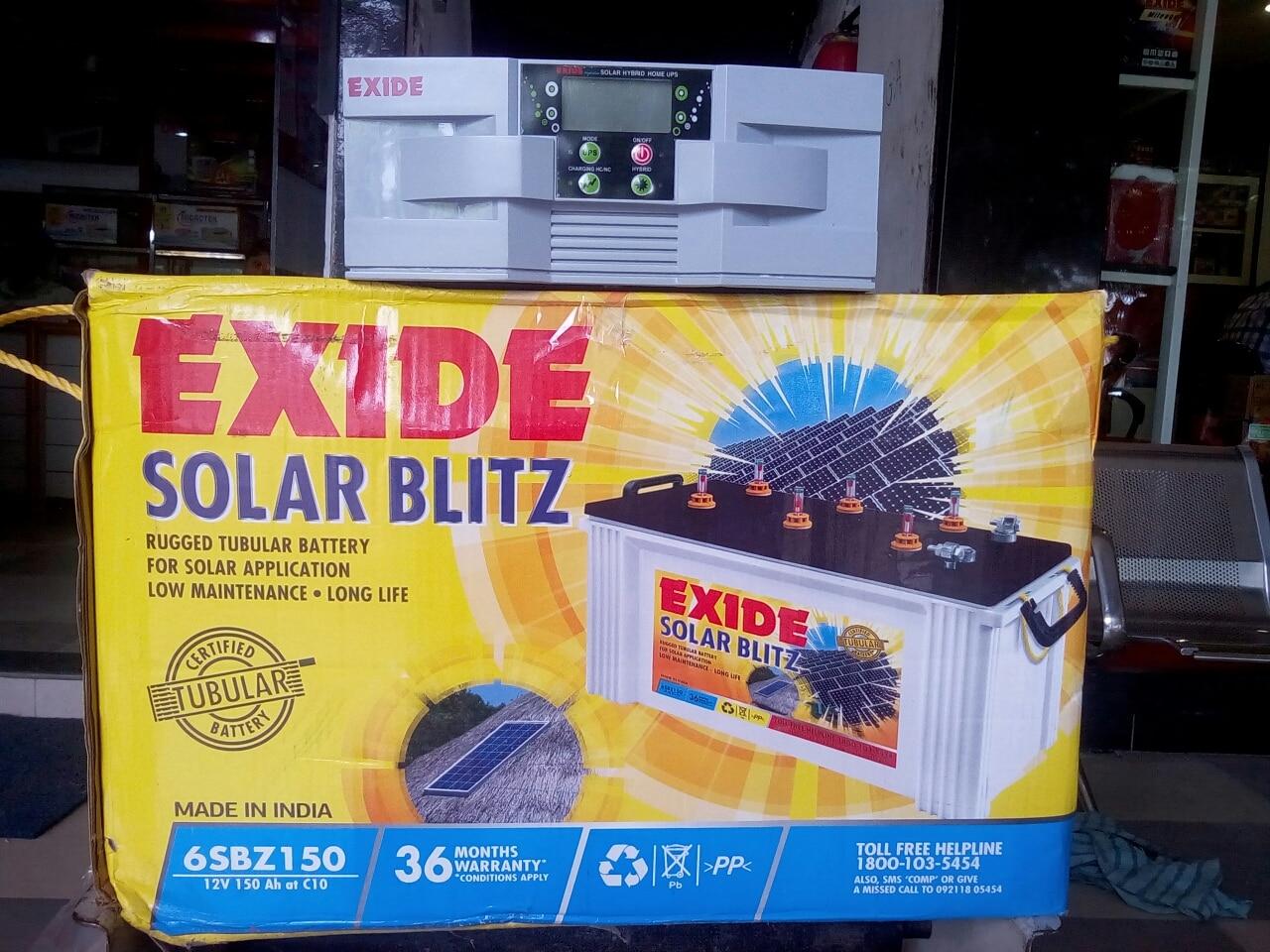 Exide Solar UPS 850VA hybrid Exide Solar tubular battery 12volt 150 ah
