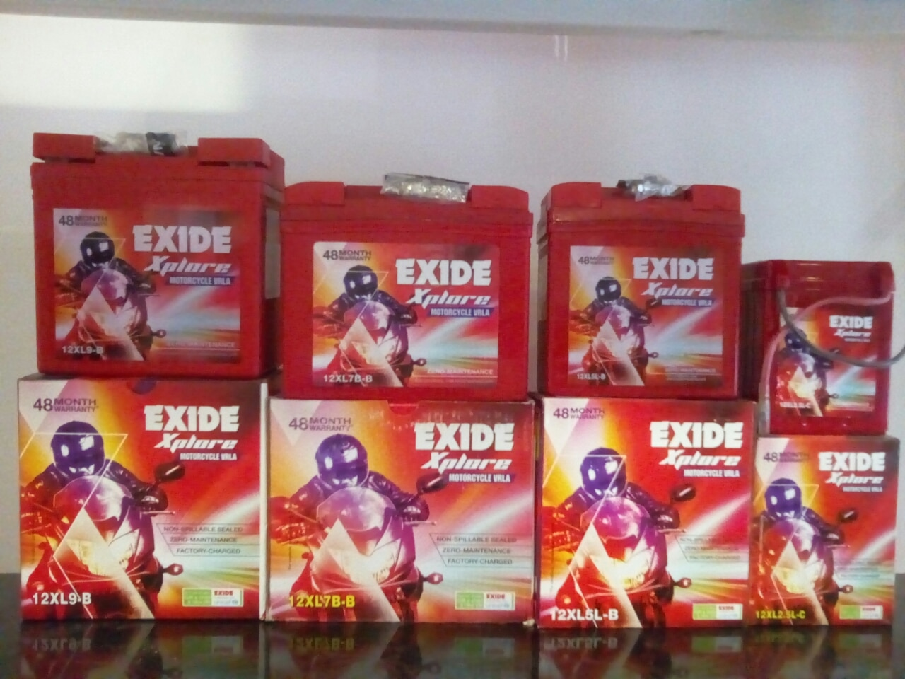 Exide xplore VRLA dry battery available for two wheeler application