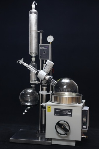 rotary evaporator suppliers  Rotary Evaporator suppliers and manufacturers   These Rotary Evaporators are used for a variety of applications including: •	Concentration •	Drying •	Refining •	Separation •	Crystallization   Vacuum Sealing system Specially designed and precisely manufactured Anti-corrosion and Wearable Sealing Systems in these Rotary Evaporators enables to reach ultimate vacuum rates of less than 1 Torr. High quality material leads to longer seal life and hence about 90% of the users did not replace the seal in one year.   Tandem Type Continuous Receiving  With SENCO's patented unique Tandem Receiving Technology (patent No. 03229693.2), system vacuum does not drop during discharging shifts. With single receiving flask vacuum leakage points are reduced by 50%. Ultimate system vacuum is further improved by Glass-Mirror finish on all Flange joints.   PTFE Charging Valve To offer pure, clean charging process and durable use experience, new structure and PTFE material is used in the charging valve.   Flange Quick Press Ring One-piece quick clip design eliminates dead seizures in glass joints. Offer new experience on easy, reliable and high sealing connection for flanges (no tools required).