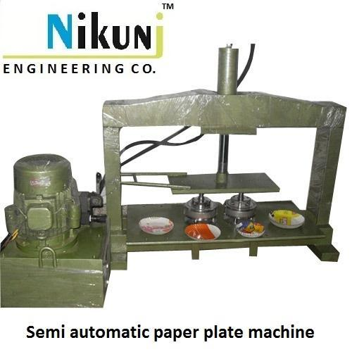 PAPER PLATE MAKING MACHINE  Offering you a complete choice of products which include Paper Plate Making Machine, Semi Automatic Paper Plate Cutting Machine, Semi Automatic Dish Making Machine, Fully Auto Dona And Thali Machine, Semi Auto Dona Machine and Fully Auto Thal Machine - Single Die.  For  More Details call now: +91 9586830833