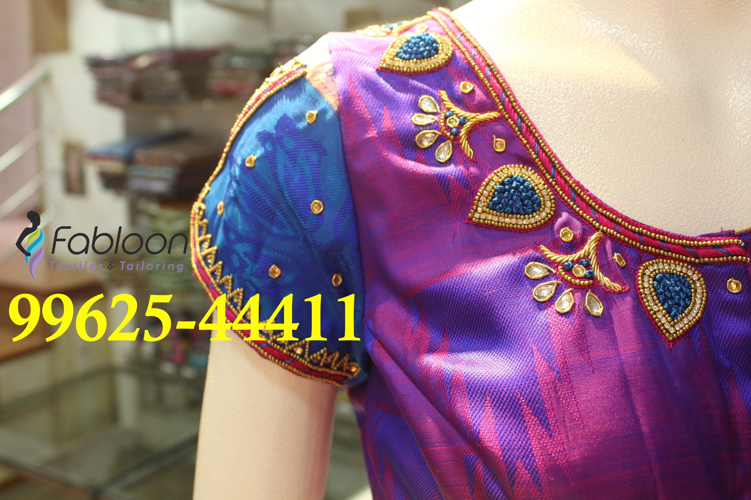 Embroidery Work Designs At Fabloon Tailors In Vadapalani, Mob: +91 9962544411, 044 48644411.  Beautiful Dresses Boutique Dresses Cute Dresses Dress Shops Check all updates for more collections.