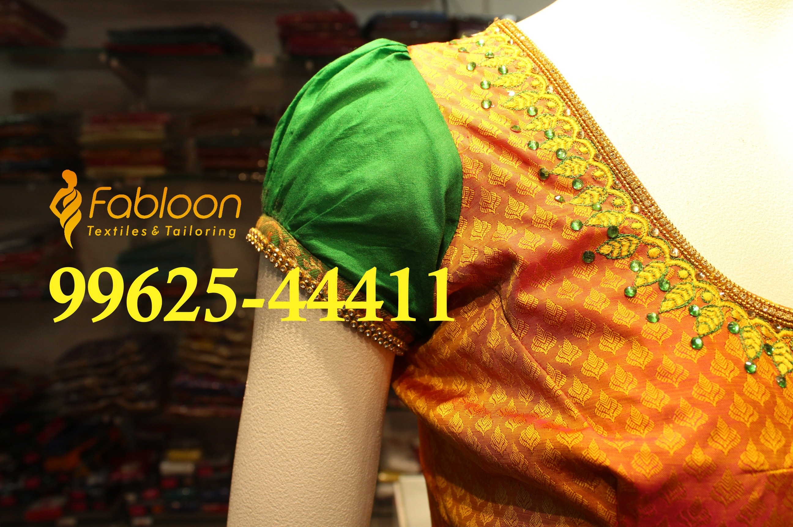 Puff Sleeve Blouse At Fabloon Blouse Tailor In Vadapalani, Mob: +91 9962544411, 044 48644411.  Pattern Blouse Tailors In Vadapalani. Embroidery Blouse Tailors At Vadapalani. Work Blouse Tailors Near Vadapalani. Normal Blouse Tailors Around Vadapalani. Check all updates for more collections.
