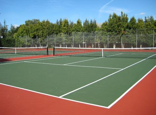 Tennis Court  We Sundek Sports Systems are manufacturers of Tennis Court                                          in Mumbai.  As well as in India. Product Details: Minimum Order Quantity	5000 Square Feet Court Style	Outdoor Raw Material Procurement	Service Provider End  Sundek Sports Systems is well known Tennis Court Making Company in INDIA, located at Mumabi. Tennis Court prepared by us are in compliance with the set international standards of size and dimension. We are rated as a reliable Tennis Court making company. The variety of our Tennis Court Surfaces is made using the best quality raw materials.