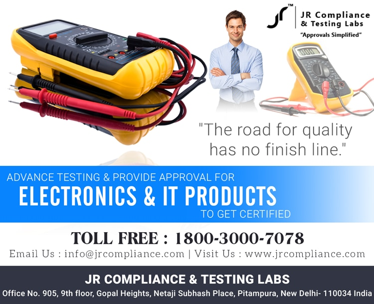 The Road For Quality has no finish line  Advance Testing & Provide approval For  #Electronics & #ITProducts to  Get #Certified   #China, #UnitedKingdom, #England, #Indonesia #Jakarta #India, #Japan #Tokyo, #Taiwan, #Tanzania , #Usa JR Compliance and Testing Labs  For More Details Toll Free: 1800-3000-7078 Email: info@jrcompliance.com Website : http://www.jrcompliance.com/