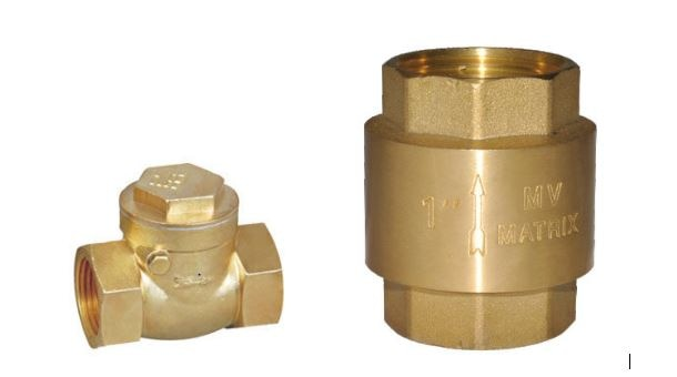 Matrix Valves is a wholesale supplier of brass check valves. The MV 105 Horizontal Brass Check Valve has screwed female ends, permits flow in one direction and shuts automatically if the flow reverses and it has a forged brass body. The MV 111 Vertical Brass Check Valve is a single piece design with screwed female ends and a spring. even this permits flow in one direction and shuts automatically if the flow reverses.