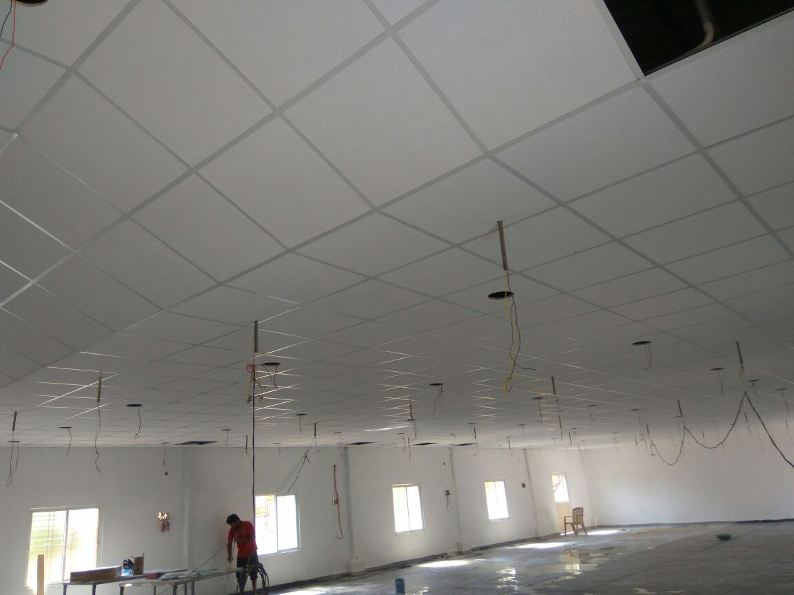 False ceiling. The best quality Rockstrengh False ceiling works at Gadwal.. The service available at Ameerpet, hyderabad. We are also provide all types of ceiling works for Office, home, shops, godhams & industries .