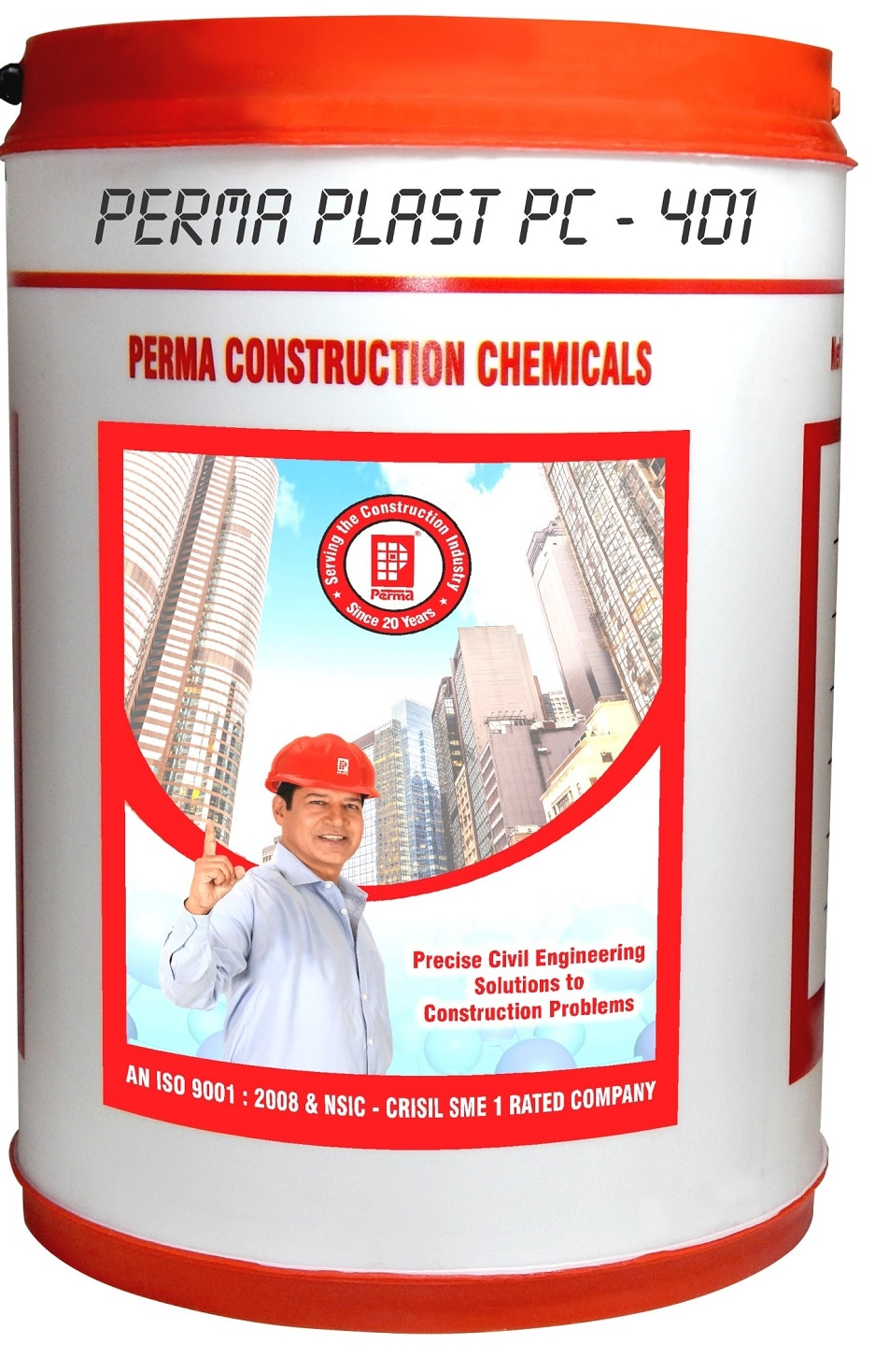 Super Plasticizers Concrete Admixture  Perma Plast Pc – 401 High Range Hyper Plasticising Superior Quality Admixture For High Quality Concrete Based On Poly Carboxylic Ether.  Perma Plast PC – 401 is Super Plasticizers Concrete Admixture and based on poly carboxylic Ether and hyper plasticising sulphonated synthetic polymers. It may be dispensed at dosages varying between 0.5 to 2 percent by weight of cement depending upon type of concrete required.  PRIMARY USES  Perma Plast PC – 401 is recommended in all high grade concrete which has a cement content of over 400 kg/m3. Perma Plast PC – 401 is recommended in hot weather concreting where workability retention over long periods is required. Perma Plast PC – 401 is recommended in marine structures, pile foundations; bridge girders, caissons, high rise structures and such structures where quality of concrete is of prime importance. Perma Plast PC – 401 is also recommended where very high initial and ultimate strengths are expected.  ADVANTAGES  Hyper plasticizing action of this product produces free flowing concrete with most kinds of aggregates and varying fine aggregates. Perma Plast PC – 401 maintains the workability over long periods. Perma Plast PC – 401 helps in production of high quality concrete which exhibits superior compressive, tensile and flexural strengths and exhibits excellent resistance to chloride and sulphide attacks on concrete. Perma Plast PC – 401 is compatible with all types of cements including pozzolanic and fly ash / slag cements. Perma Plast PC – 401 is specially suggested in all high strength concrete and in construction of marine structures, pile foundations and bridge girders. Perma Plast PC 401 enables production of dense impermeable and fair finish concrete.