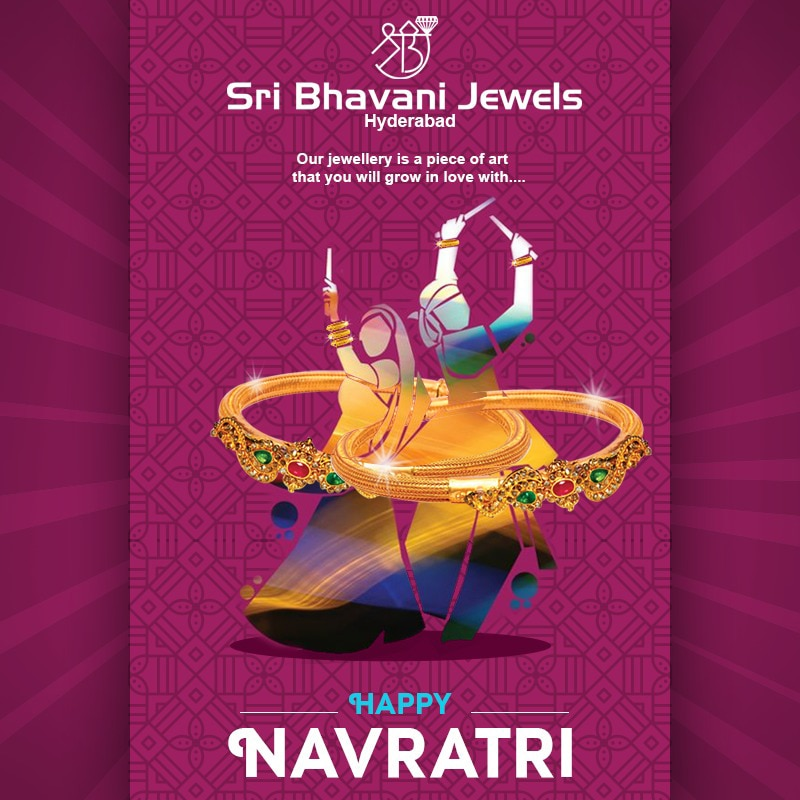 Celebrate this Navrathri season with Sri Bhavani Jewels gorgeous collection and spread the joy around.!  We wish Navrathri blessings be upon you n your family!  Happy Navrathri! Team SBj