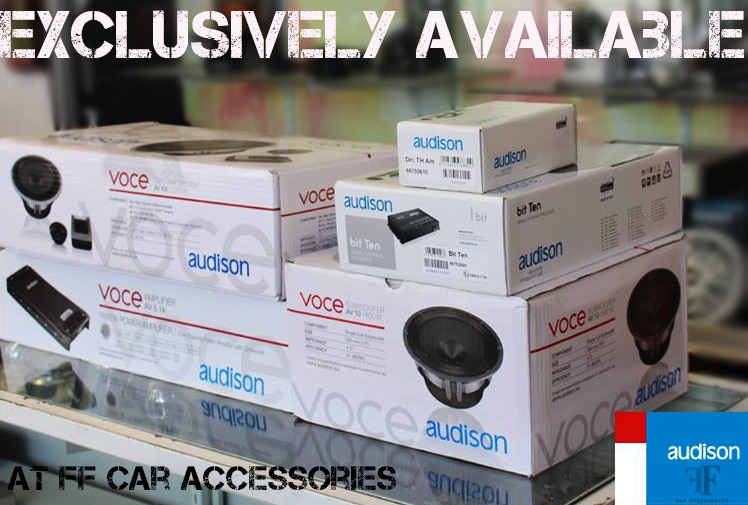 Audison speakers official distributor ff car accessories located in Chennai, We also deal other brands like Hertz audio, Polk audio, Rockfordfosgate, Alpine and more, visit ff car accessories for Bit One processors, Bit ten, & Bit play HD official seller and installer www.ffcaraccessories.net