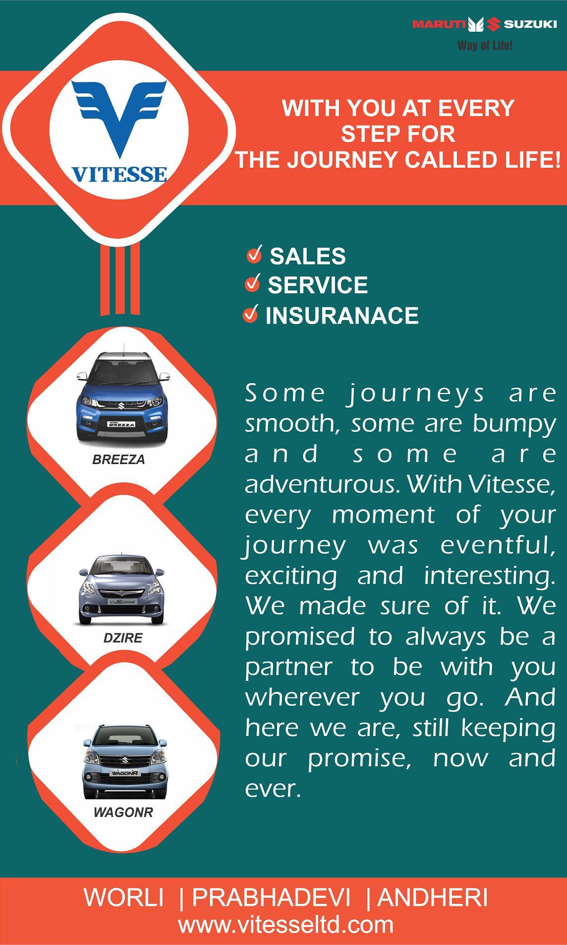 Best Deals on Dream Maruti Cars www.vitesseltd.com