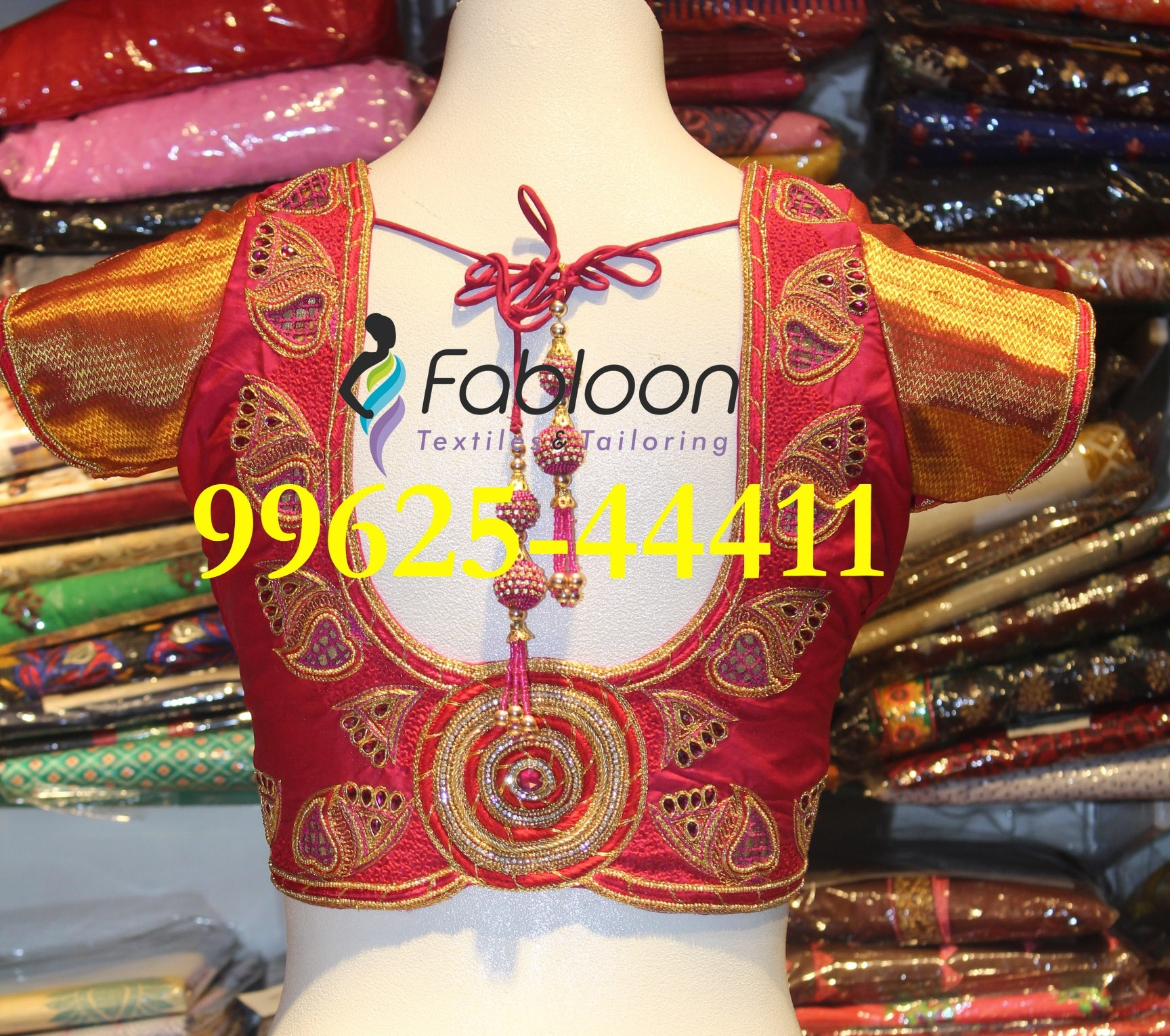 Bridal Blouse At Fabloon Fashion Boutique And Designer Tailoring In Vadapalani, Mob: +91 9962544411, 044 48644411.  Pattu Blouse Designs In Vadapalani. Net Saree Blouse At Kodambakkam. Golden Blouse Design Near Koyembedu. Net Blouse Designs Around Ashok Nagar. Check all the updates for more collections.