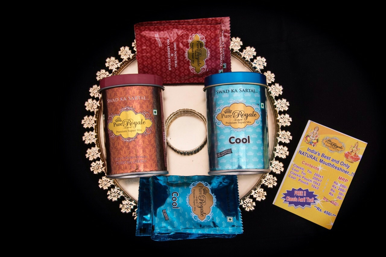 PURE ROYALE PREMIUM SUPARI MIX DIWALI CELEBRATION GIFT HAMPERS