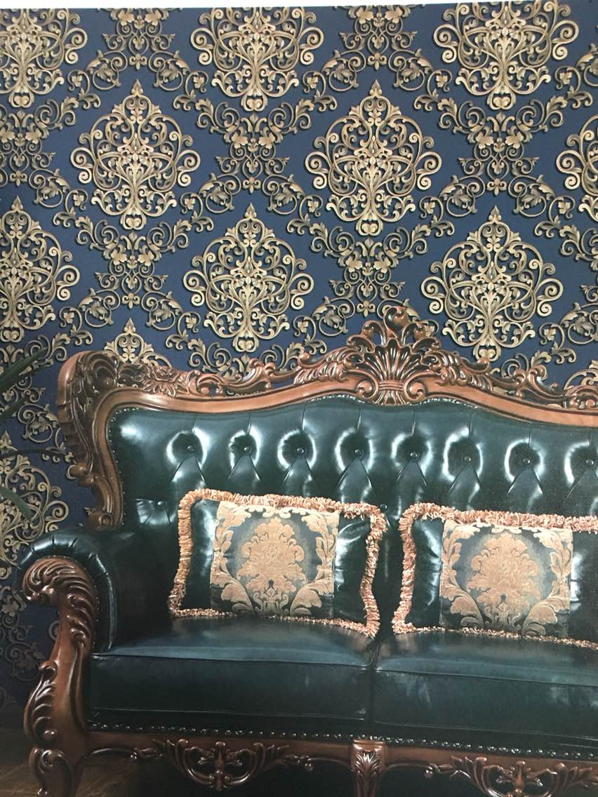 Chivas Regal Imported Wallpaper.    Best Imported Wallpaper supplier in Delhi.   A Beize Damask wallpaper on a Blue surface is highly Recommended by the Designers.   For Your Interior Paste this Chivas Regal Imported wallpaper.   To buy call us  Wallparadise- Chivas Regal Imported Wallpaper Dealer.