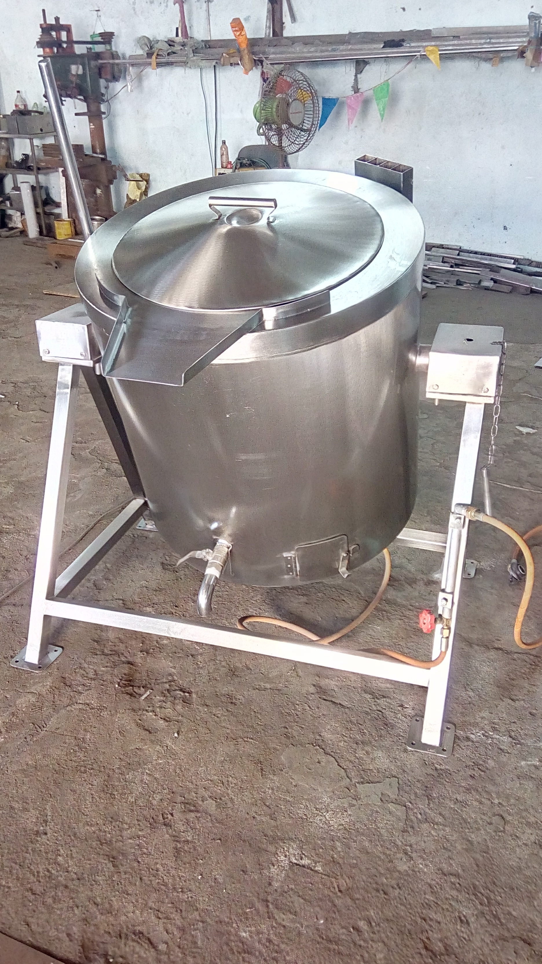 SS Triple Jacket Rice Cooking Vessel